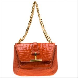 Tom Ford Alligator Skin Tara T-clasp crossbody❤️❤️